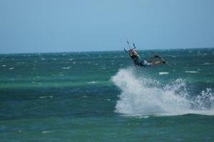 Kitesurf saut