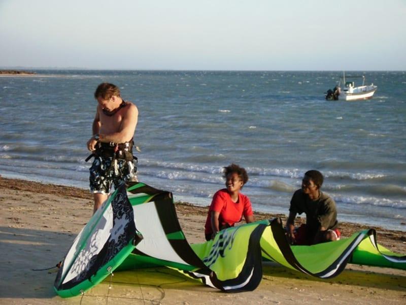 Voile de kitesurf