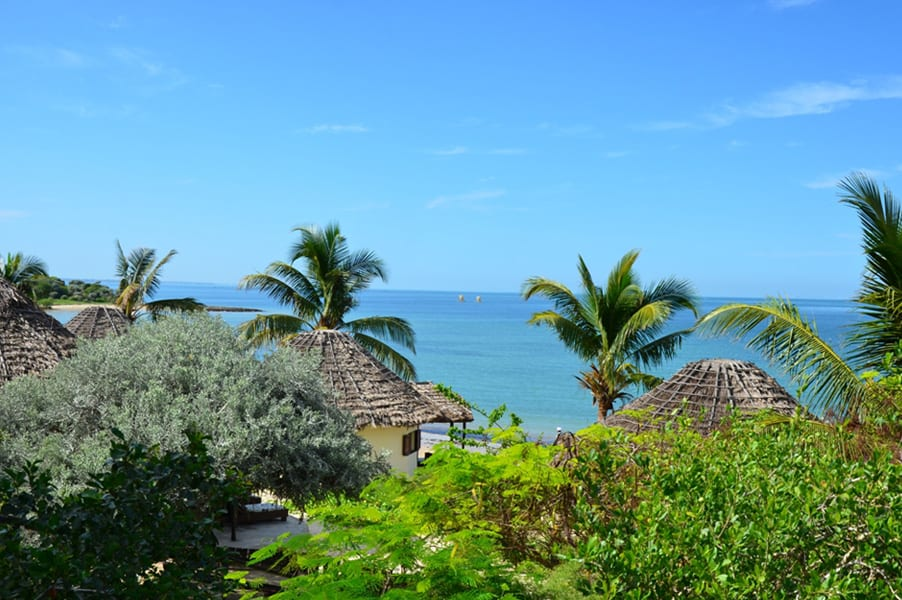 Belle vue mer sur l'hôtel
